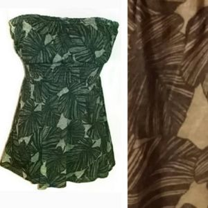 Old Navy Tube Top Size Large Brown and Tan